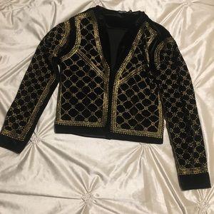 Boohoo Velvet Sweater/Jacket